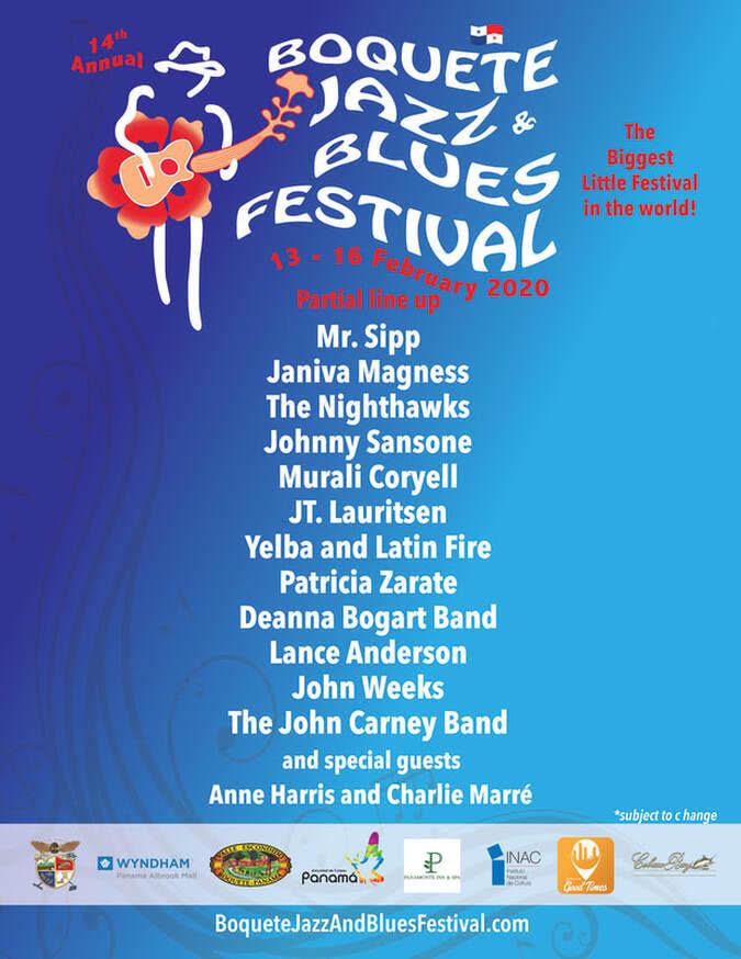 XIV Festival Anual de Jazz y Blues de Boquete 2020
